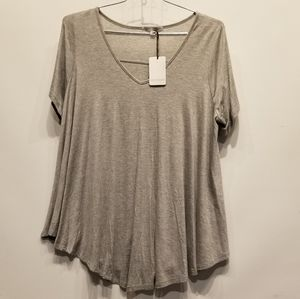 Green Envelope NEW Grey Tunic Top Size 2X